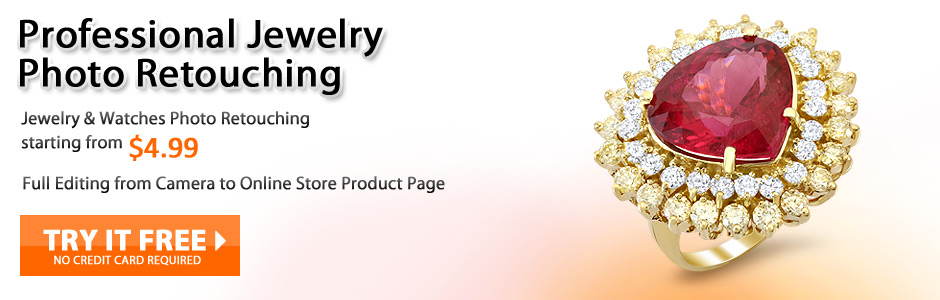 Professional Jewelry Photo Retouching. Jewelry and Watches Photo Retouching starting from $4.99. Try it free